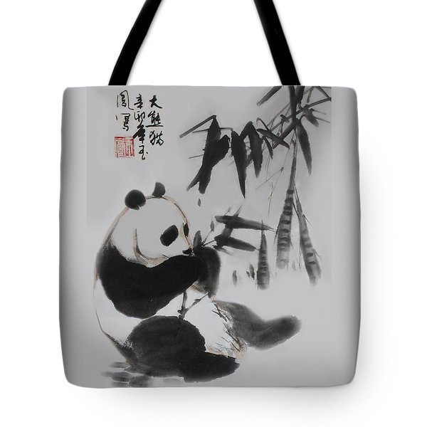 Panda And Bamboo Tote Bag
