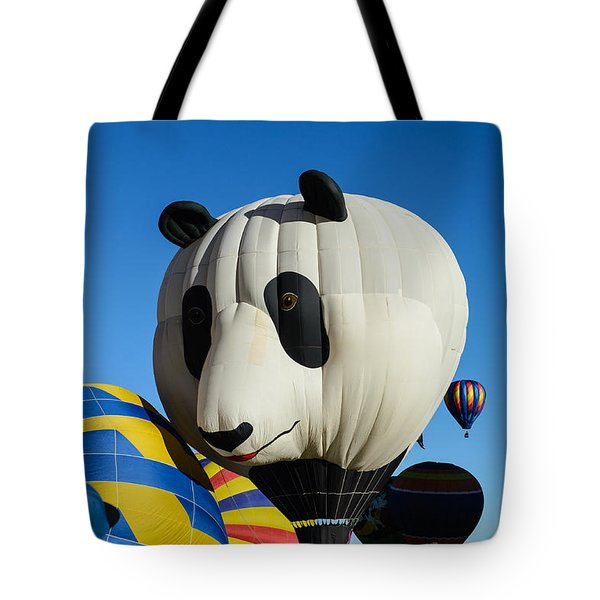 Panda Balloon Tote Bag