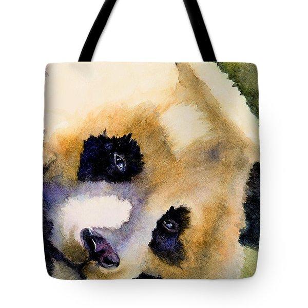 Panda Cub Tote Bag by Bonnie Rinier