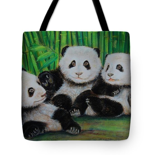 Panda Cubs Tote Bag by Jean Cormier
