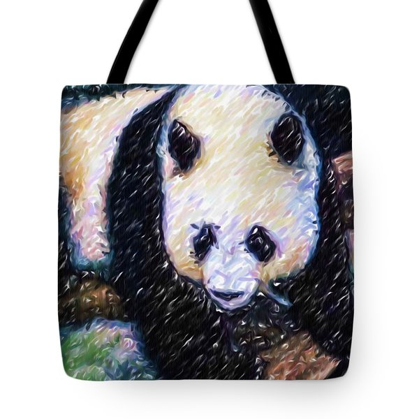 Panda In The Rest Tote Bag by Lanjee Chee