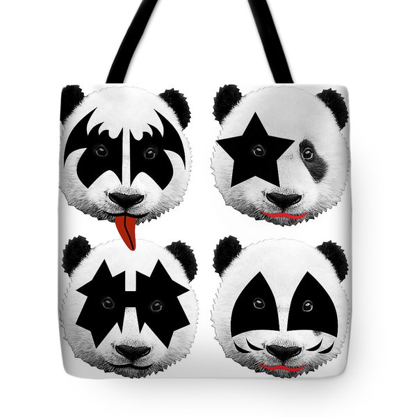 Panda Kiss  Tote Bag
