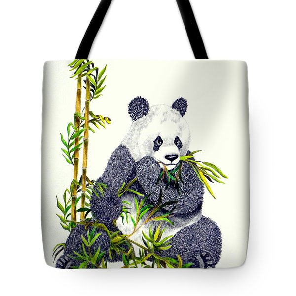 Panda  Tote Bag by Terri Mills