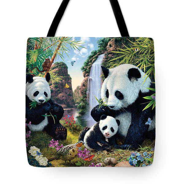 Panda Valley Tote Bag by Steve Read