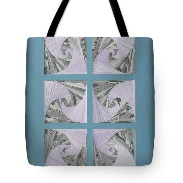 Tote Bag featuring the mixed media Panes by Ron Davidson