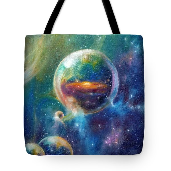Pangaea Cropped Tote Bag by Kd Neeley
