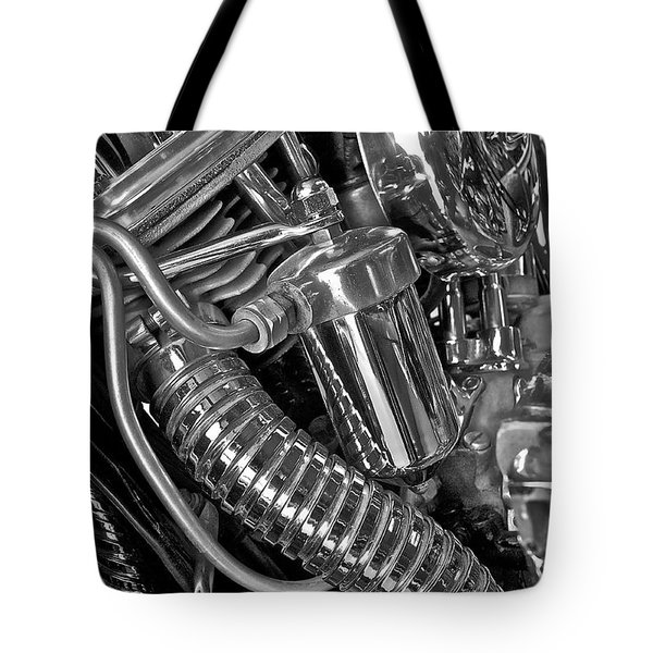 Panhead Poetry Tote Bag by Linda Bianic