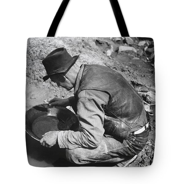 Panning For Gold Tote Bag by Russell Lee