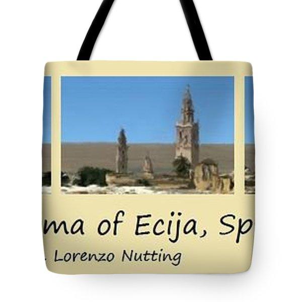 Panorama Of Ecija Spain Tote Bag