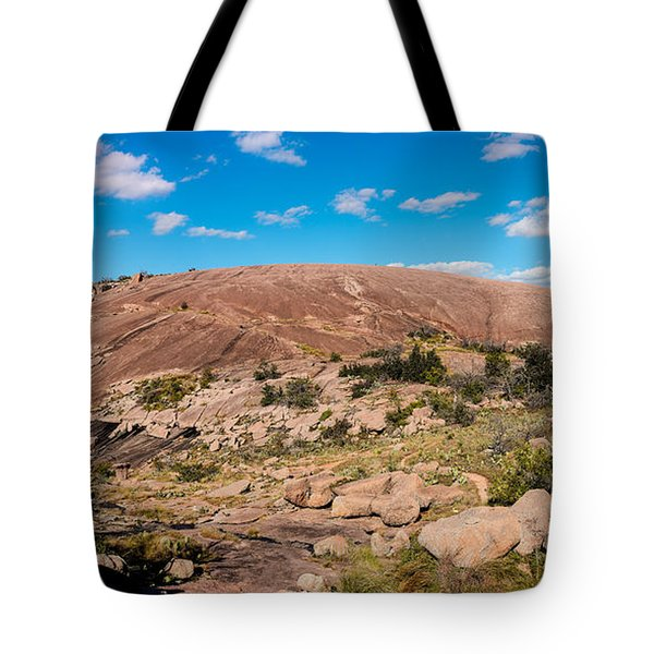 Panorama Of Enchanted Rock State Natural Area - Fredericksburg Texas Hill Country Tote Bag