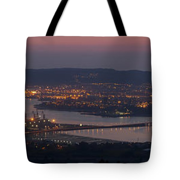 Tote Bag featuring the photograph Panorama Of Ferrol From Mount Marraxon Galicia Spain by Pablo Avanzini