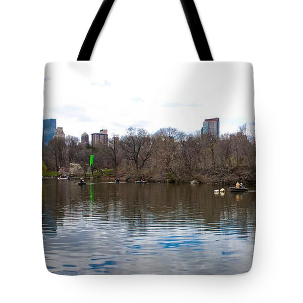 Panorama Of The Lake Of Central Park New York City Tote Bag by Thomas Marchessault