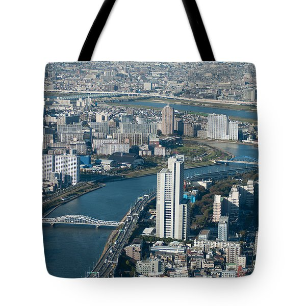 Panorama Of Tokyo Tote Bag by Jill Mitchell