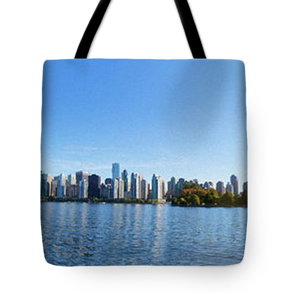 Panorama Of Vancouver Harbor Tote Bag