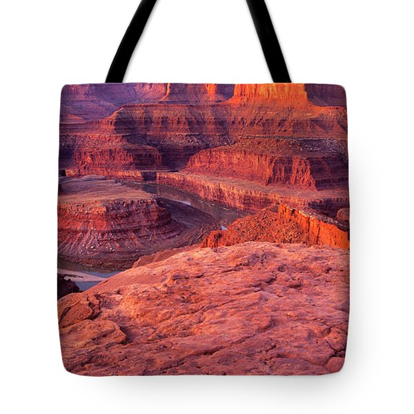 Tote Bag featuring the photograph Panorama Sunrise At Dead Horse Point Utah by Dave Welling