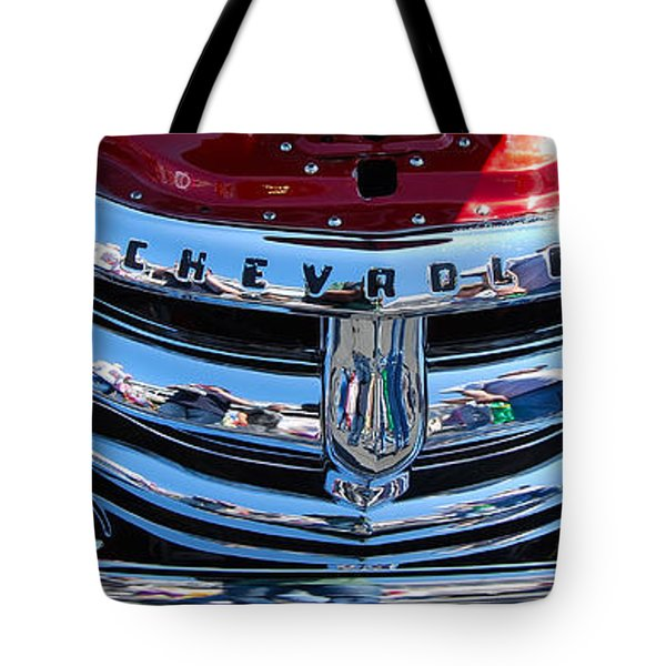 Panoramic Chevy Grill Tote Bag