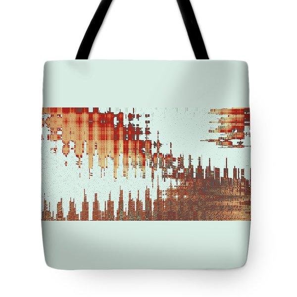 Panoramic City Reflection Tote Bag