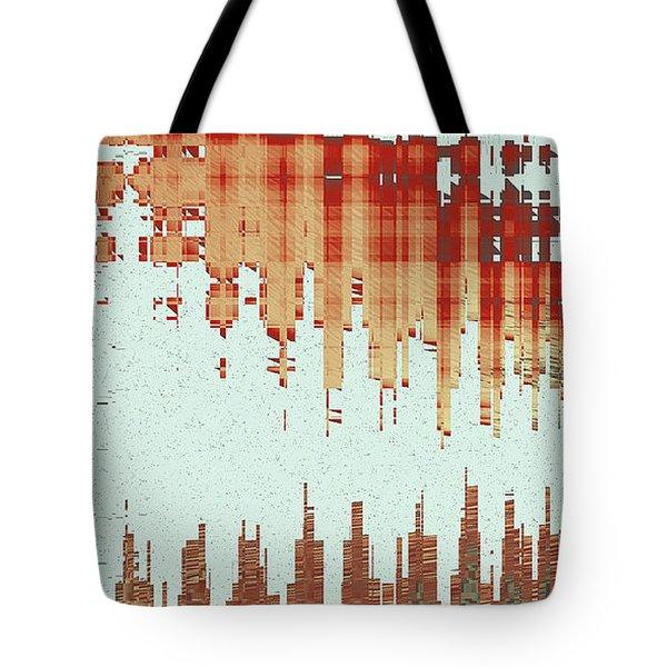 Panoramic City Reflection Tote Bag by Ben and Raisa Gertsberg