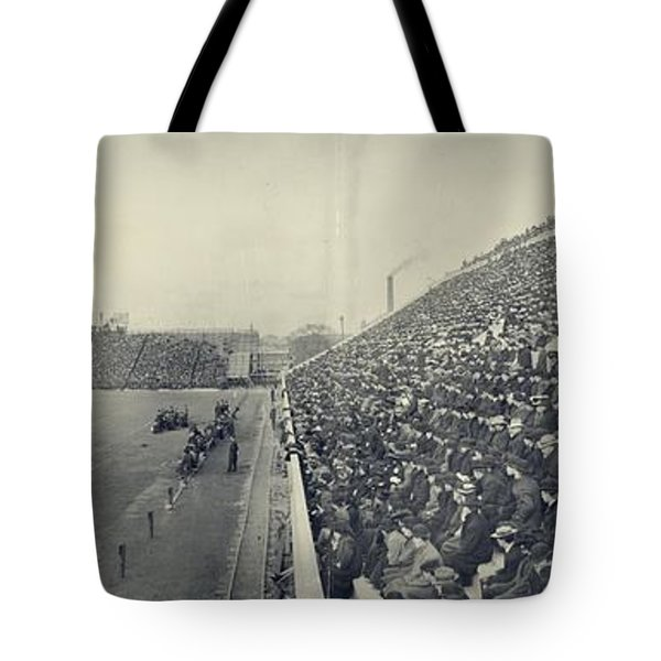 Panoramic Photo Of Harvard  Dartmouth Football Game Tote Bag by Edward Fielding