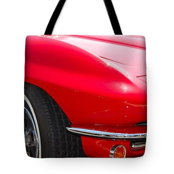 panoramic red Corvette Tote Bag