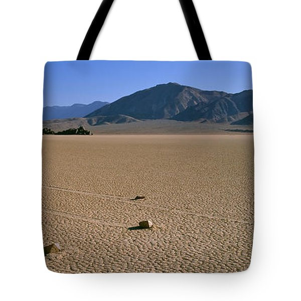 Panoramic View Of An Arid Landscape Tote Bag