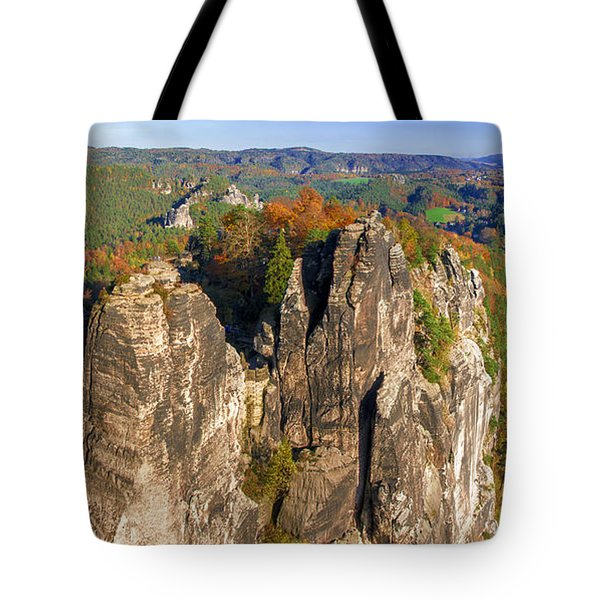 Panoramic Views Of Neurathen Castle Tote Bag
