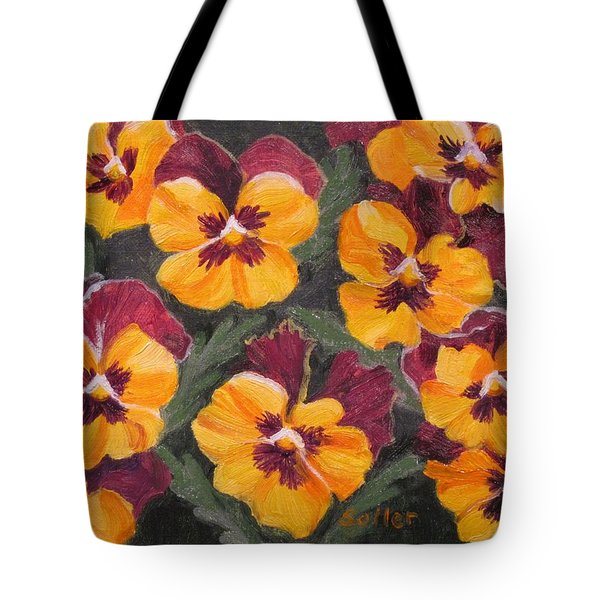 Pansies Are For Thoughts Tote Bag
