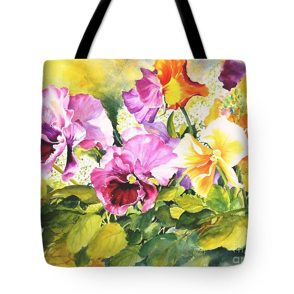 Pansies Delight #3 Tote Bag by Betty M M   Wong