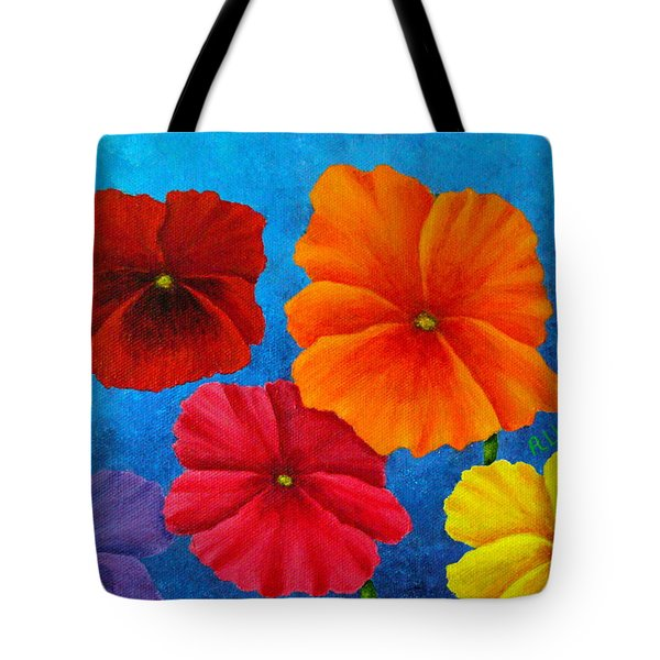 Pansies For Rosalina Tote Bag by Pamela Allegretto