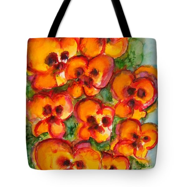 Pansies Love Us Tote Bag
