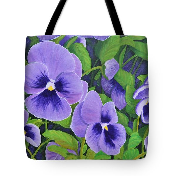 Pansies Schmanzies Tote Bag by Donna  Manaraze