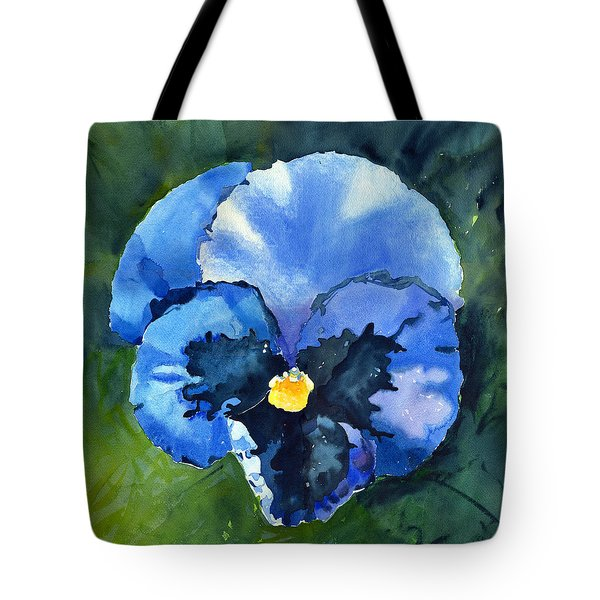 Pansy Blue Tote Bag