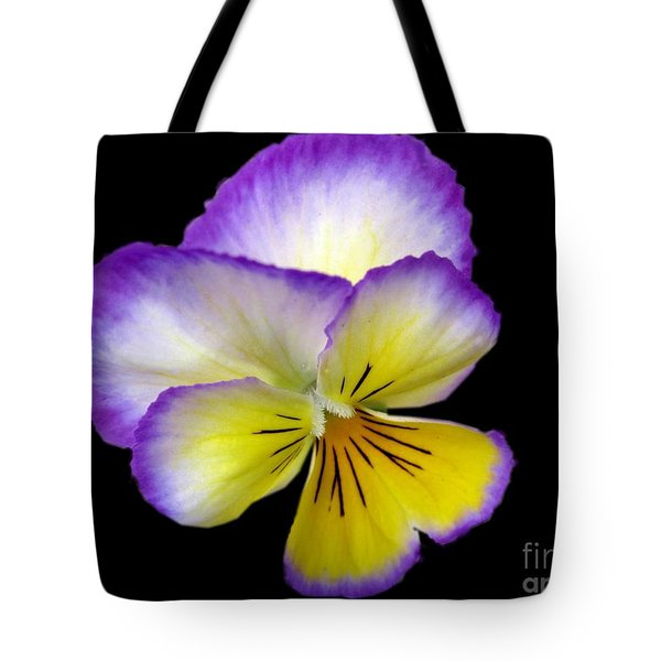 Tote Bag featuring the photograph Pansy by Carol Sweetwood