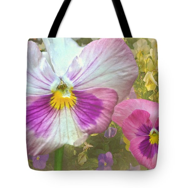 Pansy Duo Tote Bag by Sandi OReilly