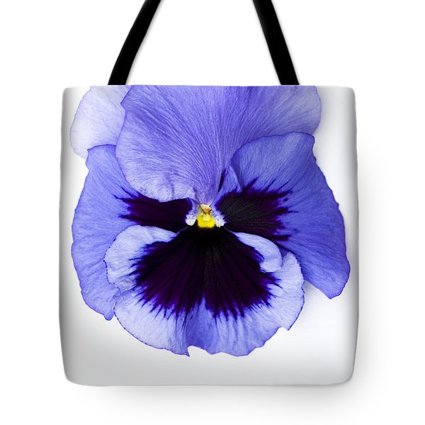 Pansy Face Tote Bag by Anne Gilbert
