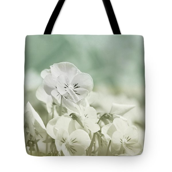 Pansy Flowers Tote Bag by Kim Hojnacki