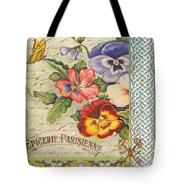 Pansy Garden-b Tote Bag by Jean Plout