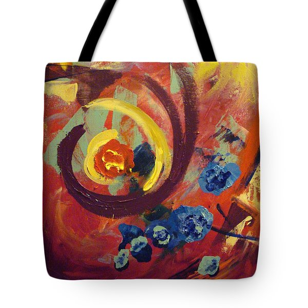 Tote Bag featuring the painting Pansymania by Donna Tuten