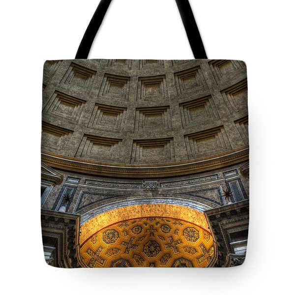 Pantheon Ceiling Detail Tote Bag