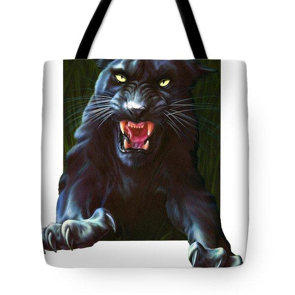 Panther Attack Tote Bag