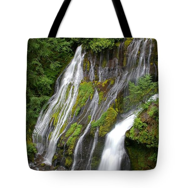 Panther Creek Falls 2- Washington Tote Bag