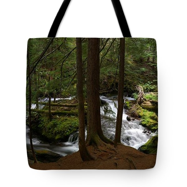 Panther Creek Panorama- Washington Tote Bag