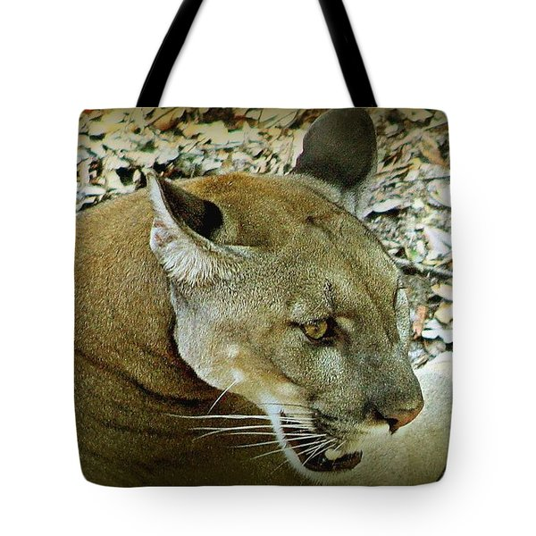 Tote Bag featuring the photograph Panther by Debra Forand