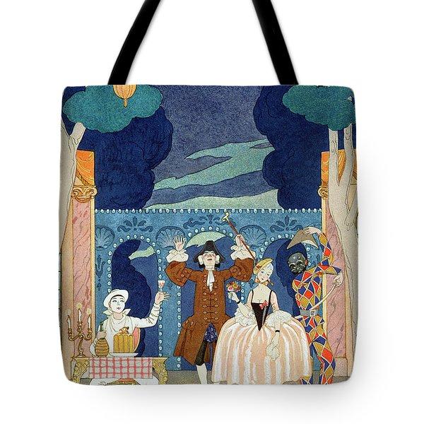 Pantomime Stage Tote Bag by Georges Barbier