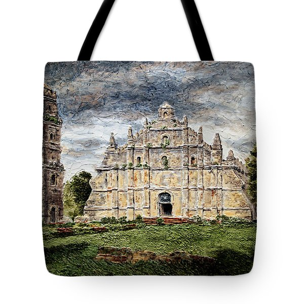 Paoay Church Tote Bag by Joey Agbayani