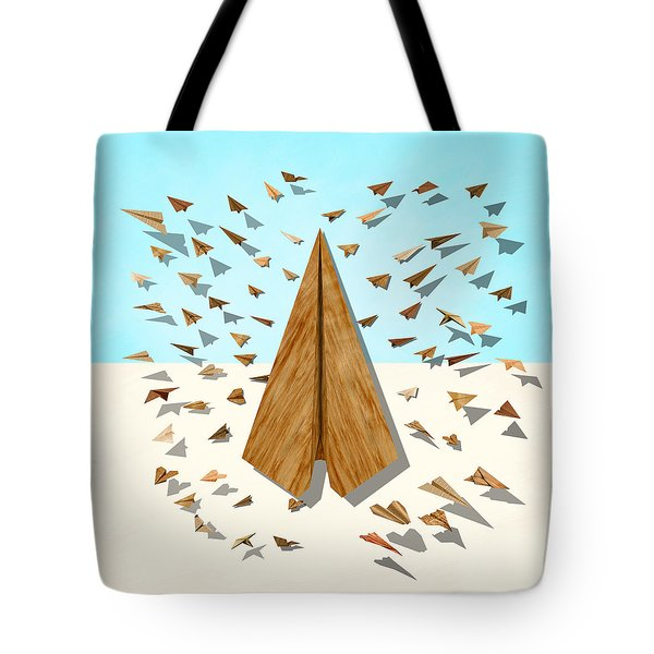 Paper Airplanes Of Wood 10 Tote Bag by YoPedro