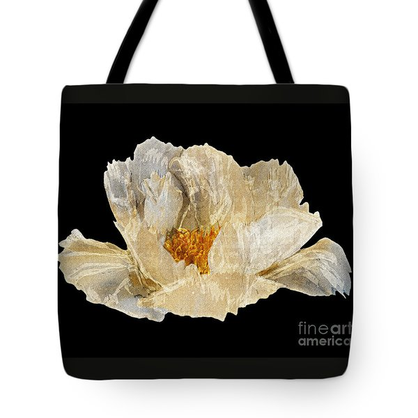 Paper Peony Tote Bag by Diane E Berry