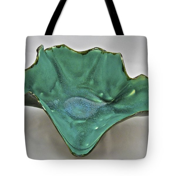 Tote Bag featuring the sculpture Paper-thin Bowl  09-009 by Mario Perron