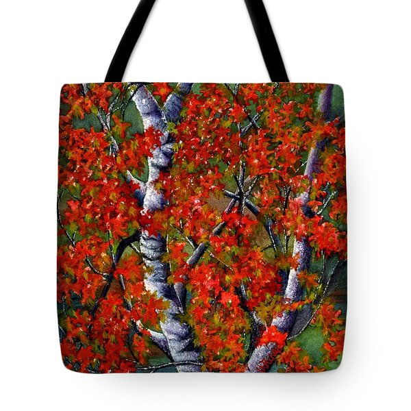 Paper White Birch Reflections Tote Bag by Janine Riley