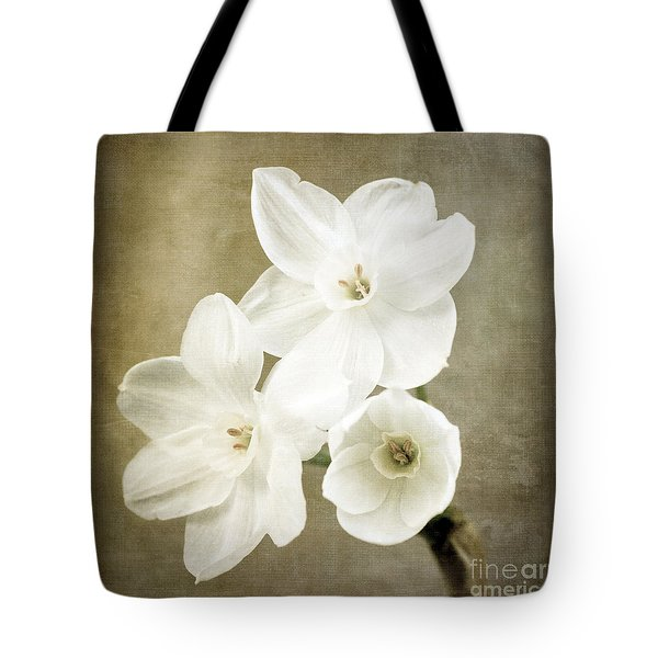 Paper Whites Tote Bag
